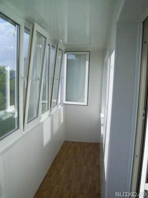Остекление лоджии (балкона)металлопластиковыми (пвх) рамами.