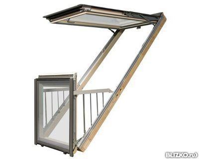"Окно-балкон fakro fgh-v p2 galeria 94х255 см цена ооо ""дюним."