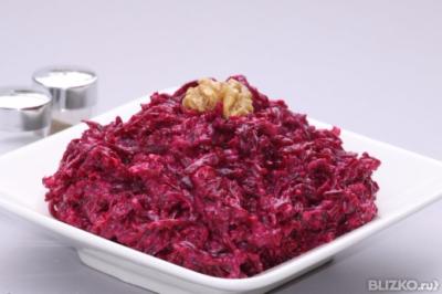 Свекольный салат рецепт классический