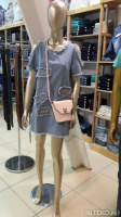 Женское джиновое платье с аппликацией Мичиган