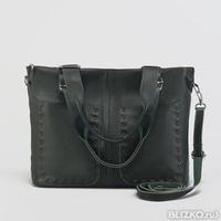 28c4fc9393c5 Сумка женская на молнии, отдел с перегородкой, 3 наружных кармана, длинный